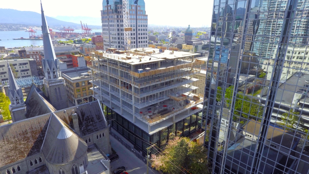 New Downtown Vancouver Office Building Construction Update