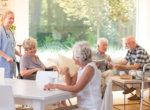 Seniors in living room